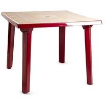 Стол квадратный 101002 бордовый