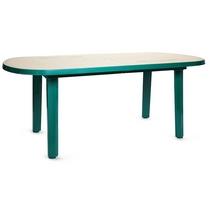 Стол овальный 103100з зеленый с рисунком