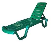 Лежак Бриз 956371 зелёный с регулируемой спинкой