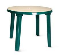Стол круглый 102100 зелёный с рисунком