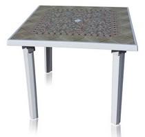 Стол квадратный 101100 белый с рисунком