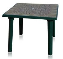 Стол квадратный 101100 зелёный с рисунком