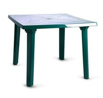 Стол квадратный 101001 зелёный
