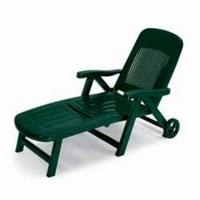 Лежак из пластика ELEGANT 5 POSITTIONS (цвет зеленый, складной)