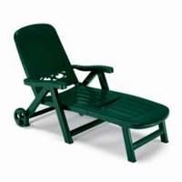 Лежак пластиковый SPLENDIDO 5 POSITTIONS (цвет зеленый, складной)