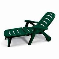 Лежак STELLA DI MARE 5 POSITTIONS (цвет зеленый, складной) пластиковый