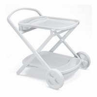 Стол пластиковый PERLAGE (цвет белый, складной сервировочный) 1264