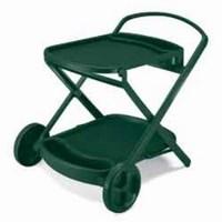 Стол пластиковый PERLAGE (цвет зеленый, складной сервировочный) 1261