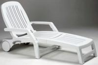 Лежак пластиковый VULCANO (цвет белый, складной)