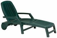 Лежак пластиковый VULCANO (цвет зелёный, складной)