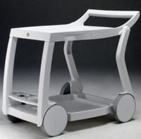 Стол из пластика GALILEO (цвет белый, складной сервировочный)