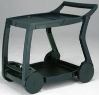 Стол из пластика GALILEO (цвет зелёный, складной сервировочный)
