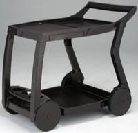 Стол из пластика GALILEO (цвет кофе, складной сервировочный)