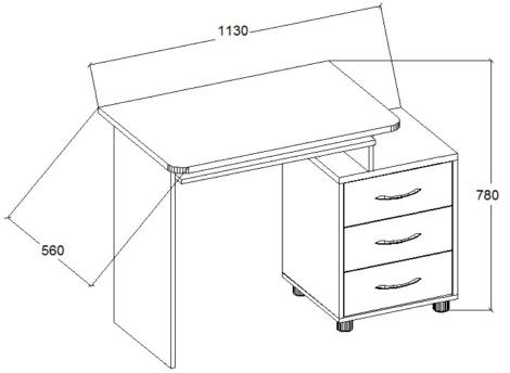 Универсальный, компактный и надежный - именно этими словами можно охарактеризовать стол компьютерный Малыш-СК-224.