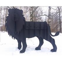 Мангал Лев черный