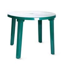 Стол пластиковый круглый 900х710 мм (зелёный)