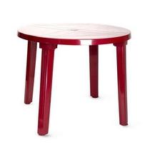 Стол пластиковый круглый 900х710 мм АГР (бордовый)