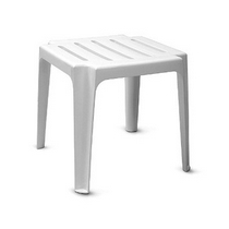 Стол из пластика к шезлонгу белый