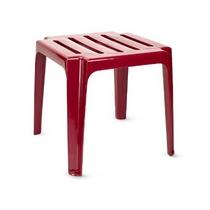 Стол из пластика к шезлонгу бордовый