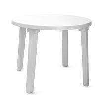 Стол круглый (диаметр 90 см) белый, пластик