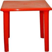 Стол квадратный 80 х 80 см (красный, пластик)