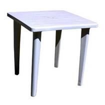 Стол квадратный 80 х 80 см (ИжПласт) белый, пластик