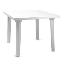 Стол квадратный 90 х 90 см (белый, пластик)