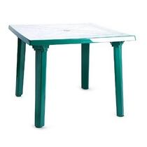 Стол квадратный 90 х 90 см (зеленый, пластик)