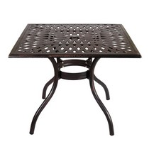 Стол квадратный Lotus Square Table (бронзовый)
