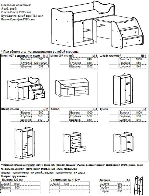 Мини-007 с дверьми и ящиками
